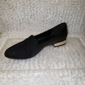Aldo black leather and suede flats